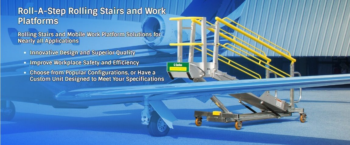 Erectastep RollaStep rolling stairs and mobile work platforms